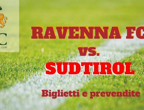 Ravenna FC – Sudtirol informazioni sui biglietti