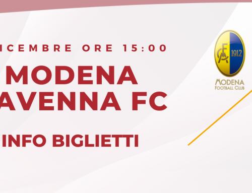 Modena – Ravenna FC informazioni sui biglietti